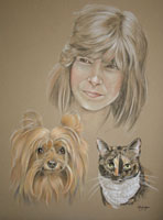 portraits of people and pets