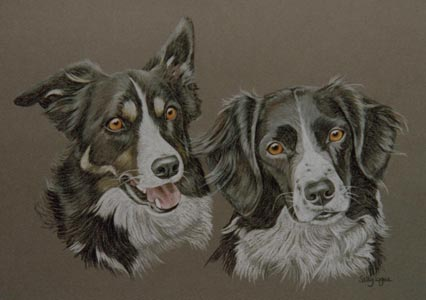 double dog portrait